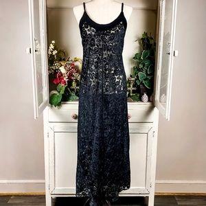 Victorias Secret Vintage Burnout Velvet Slip Dress